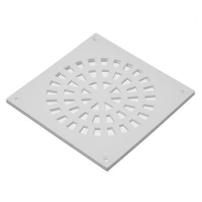 Rejilla de PVC blanca de 15 x 15 cm
