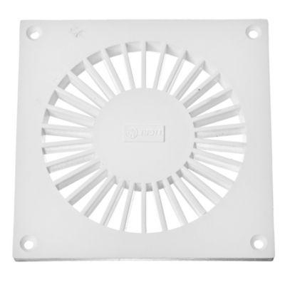 Rejilla de PVC blanca de 10 x 10 cm