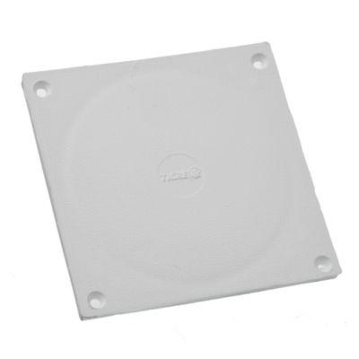 Tapa PVC blanca de 15 x 15 cm