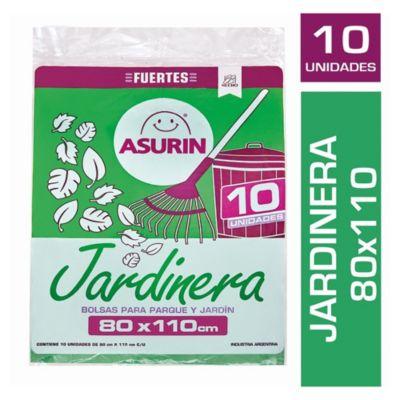 Bolsas para residuos jardinera 80 x 110cm 10 unidades