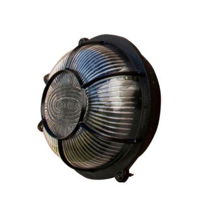 Tortuga de pared para exterior una luz plástico redonda negro E27