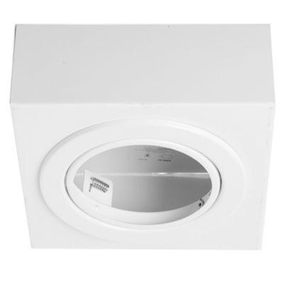 Plafón de techo una luz móvil blanco ar111