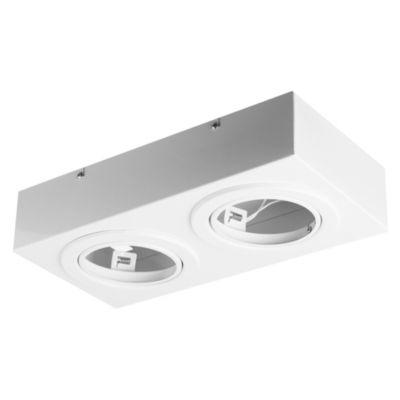 Plafón de techo dos luces móvil blanco ar111