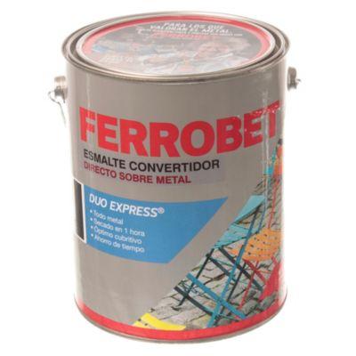 Esmalte convertidor ferrobet duo express negro 4 l