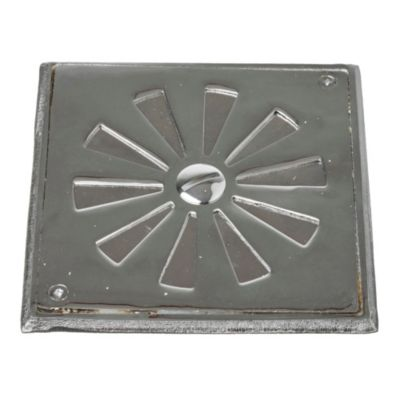 Reja tapa giratoria bronce 15 x 15 cm cromo