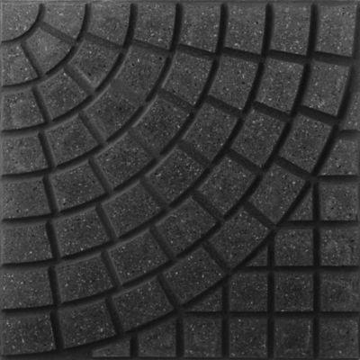 Baldosón piso curvo negro y negro 40 x 40 cm