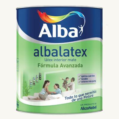 Pintura látex Albalatex interior mate blanco 10 L