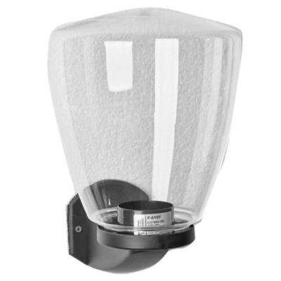 Aplique de pared para exterior una luz plástico cono negro 22 cm E27 ip44