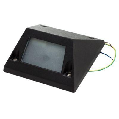 Aplique de pared para exterior una luz aluminio Unidireccional negro G9