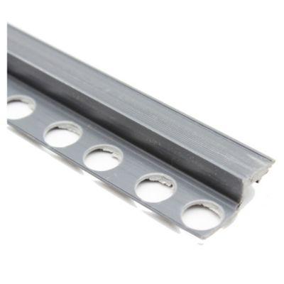 Nariz de escalón PVC gris oscuro