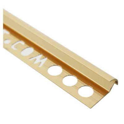 Guardacanto aluminio oro brillante 9 mm