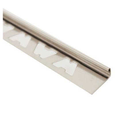Perfil l acero inoxidable brillante 10 mm