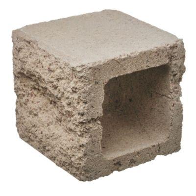 Bloque de hormigón para muro mitad sin pie 25 cm espesor