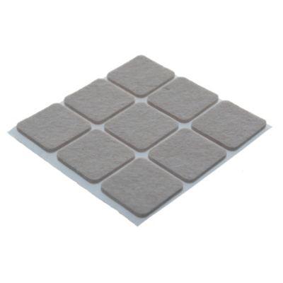 Fieltro adhesivo cuadrado 30 mm marrón por 9 u