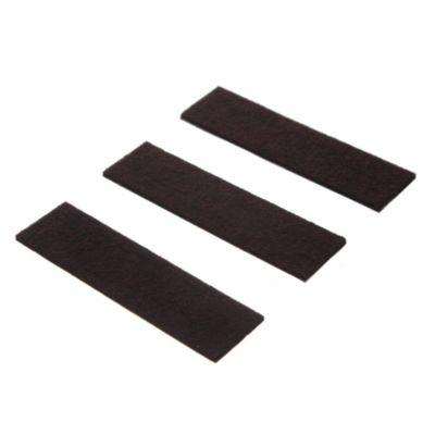 Fieltro adhesivo Tira 3 x 9 cm marrón por 3 u