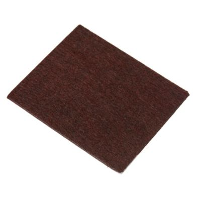 Fieltro adhesivo rectangular 9 x 9 cm marrón