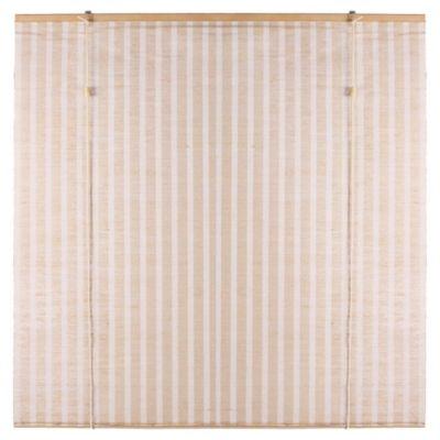 Cortina enrollable de yute 150 x 165 cm