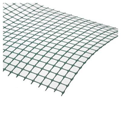Cerco plástico verde 10 x 10 cm de 1 m