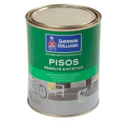 Recubrimiento especial esmalte pisos gris 1 l