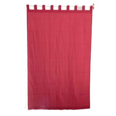 Cortina velo liso rojo 140 x 220 cm