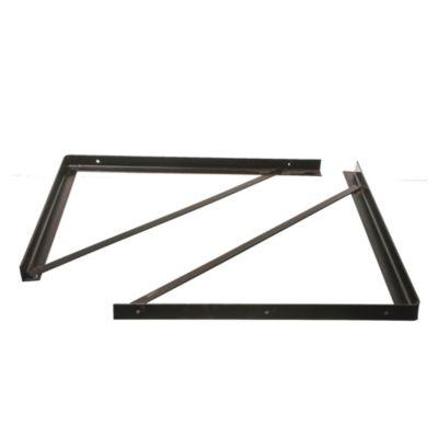Soporte reforzado 60 cm negro