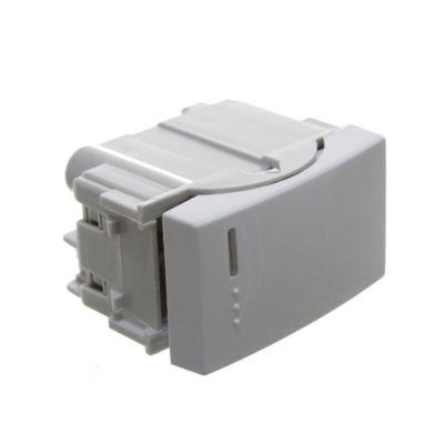 Módulo 1 interruptor pulsador blanco