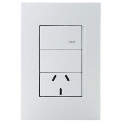Set armado 1 interruptor + 1 tomacorriente