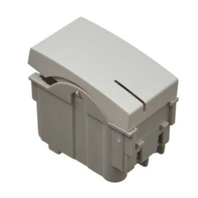 Módulo 1 interruptor de combinación tecla elevada blanco
