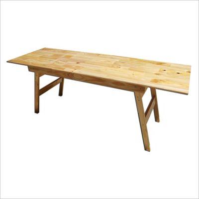 Mesa de exterior de madera natural