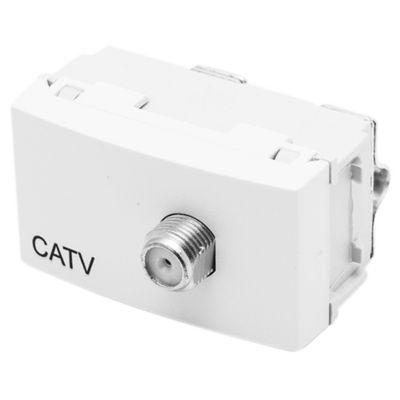 Módulo 1 tomacorriente caTV blanco