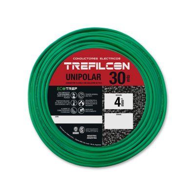 Cable unipolar 4 mm2 verde y amarillo 30 m