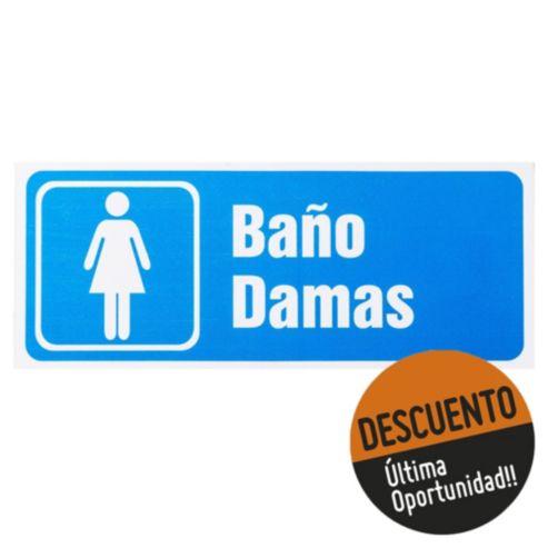e0e6d156786f Cartel 25 x 10 Baño Damas