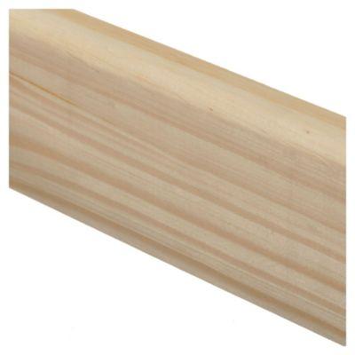 Zócalo de pino 3/4 x 3 x 210 cm