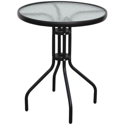 Mesa de exterior redonda 60 cm negra
