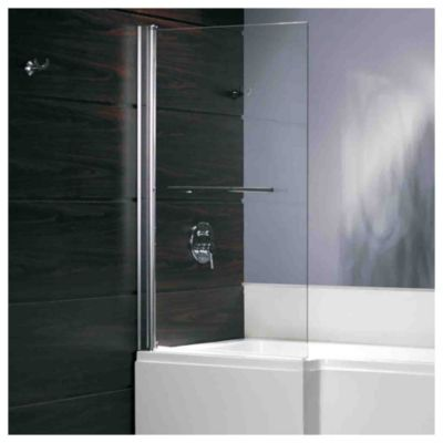 Mampara para ducha sobre bañera fija 90 x 140 cm