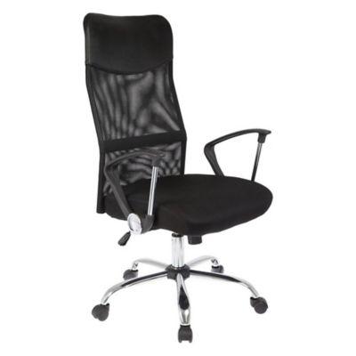 Silla de oficina gerencial regulable negra