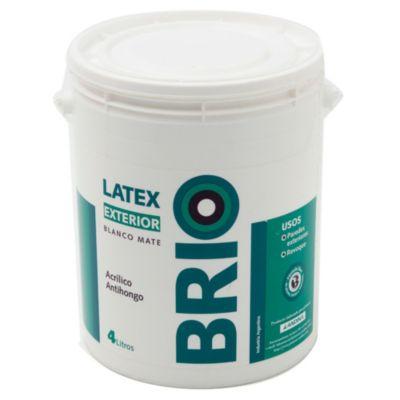 Pintura látex exterior Brio 4 L