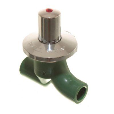 Llave de paso con cabezal de bronce y polímero para agua fría y caliente 20 mm
