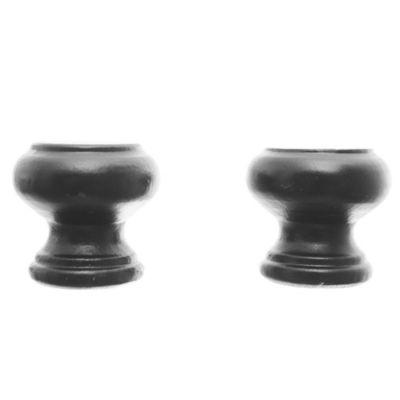 Tirador de madera 35 mm negro