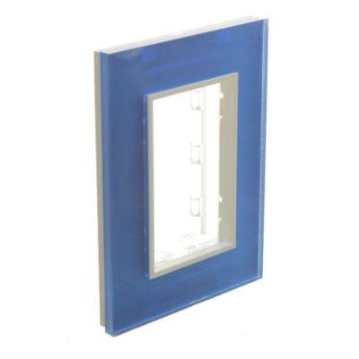 Tapa rectangular acrílico azul francia línea geo