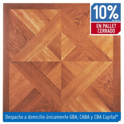 Baldosa autoadhesiva 30 x 30 cm imitación madera tropical 4.19 m2