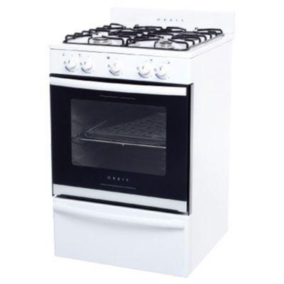 Cocina a gas 55 cm 4 hornallas blanca