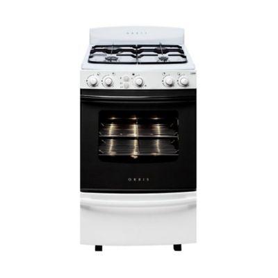 Cocina a gas blanca 4 hornallas 55 cm multigas 858BC2