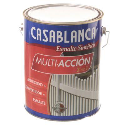 Esmalte classic multiacción negro mate 4 L