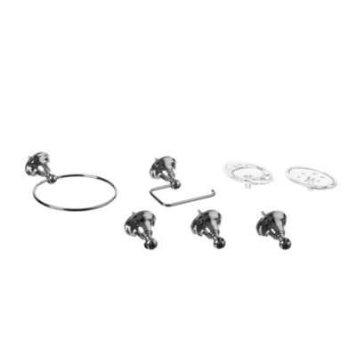 Kit de accesorios de baño x 5 piezas de aleación de aluminio
