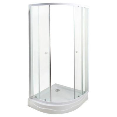 Cabina de ducha curva 80 x 80 cm