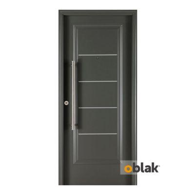 Puerta grafito 5 tableros 1709 80 x 200 x 10 cm...