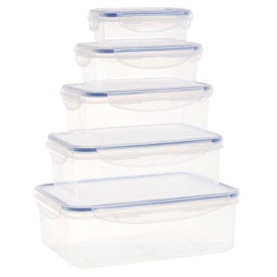 Set de 5 contenedores para alimentos