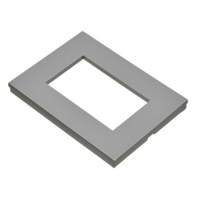 Tapa rectangular plata línea minimal satinado