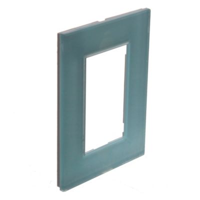 Tapa rectangular verde línea minimal kristal